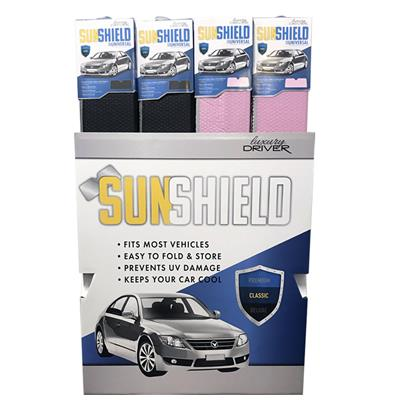 Luxury Driver Sunshade Classic Matte Finish Display- 24 Piece