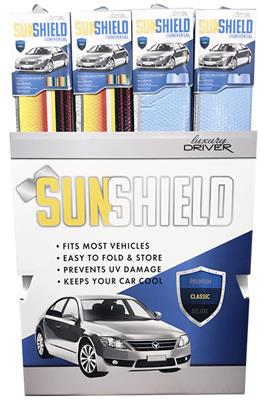 Luxury Driver Sunshade Classic Fashion Display- 24 Piece
