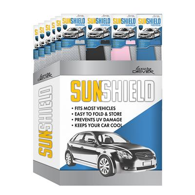 Luxury Driver Classic Accordion Sunshield Universal Display- 24 Piece