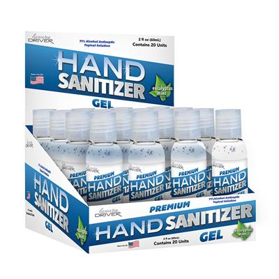 Hand Sanitizer 2 Ounce Gel - 20 Piece Display